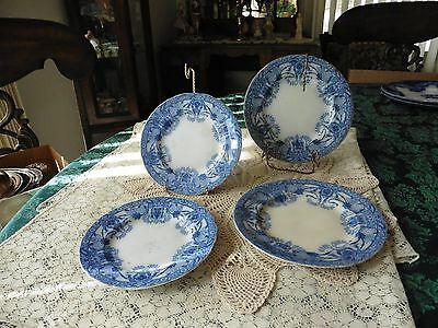 Antique .Burcess & Leigh Raleigh  Pat.2 Dessert Plates 2  five inches plates