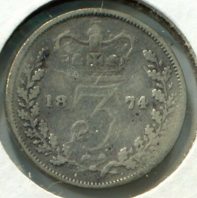 Great Britain - Silver Threepence [3-Pence] 1874