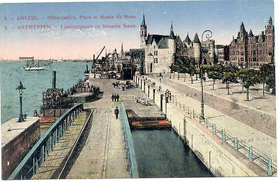 Anvers - Debarcadere, Place Et Musee Du Steen