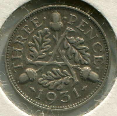 Great Britain - Silver Threepence [3-Pence] 1931