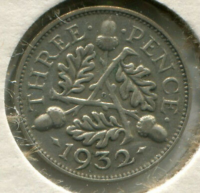Great Britain - Silver Threepence [3-Pence] 1932
