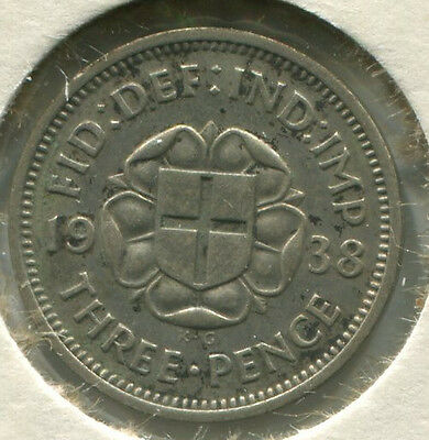 Great Britain - Silver Threepence [3-Pence] 1938