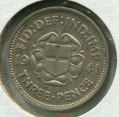 Great Britain - Silver Threepence [3-Pence] 1941
