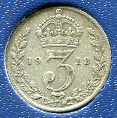 Great Britain - Silver Threepence [3-Pence], George V, 1912