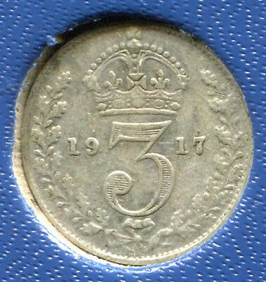 Great Britain - Silver Threepence [3-Pence], George V, 1917