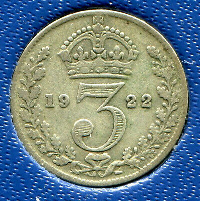 Great Britain - Silver Threepence [3-Pence], George V, 1922