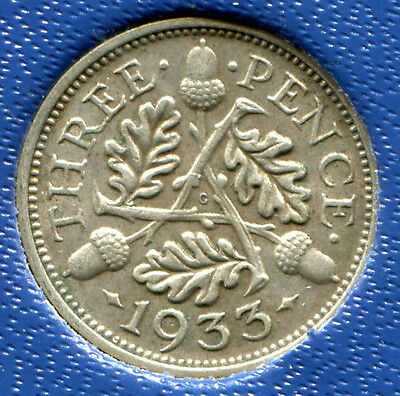 Great Britain - Silver Threepence [3-Pence], George V, 1933