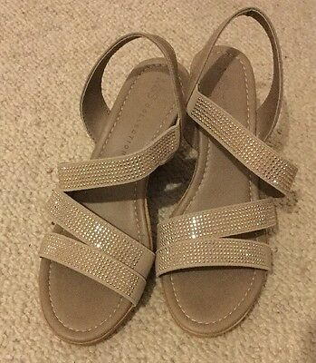 marks spencer sparkly wedge sandals size 3 5 36 5 163