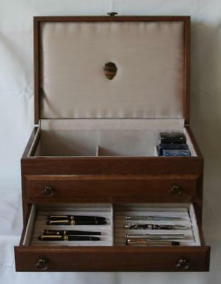 Fountain Pen Chest, #567, Vintage, Hand-Crafted, Holds 42 Pens, Solid Wood, Usa