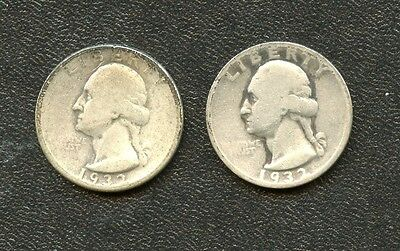 1932D and 1932S SILVER WASHINGTON QUARTERS - KEY DATES
