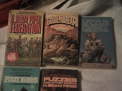 BOOKS by H.BEAM PIPER science fiction Paperbacks Lot of 5 books