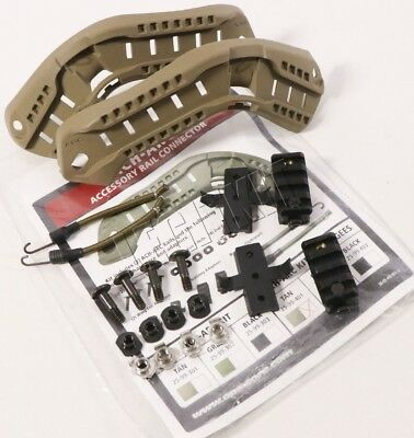 NEW Ops-Core ACH-ARC Rail Kit w/ Bungees TAN OpsCore MICH ACH Model 25-99-401