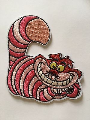 Cheshire Cat Size: 6cm embroidery patch ( 1 patch) Iron On Alice In Wonderland