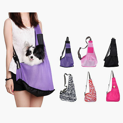 Small Pet Dog Cat Carrier Single Shoulder Sling Bag Outside Travel Oxford Bag