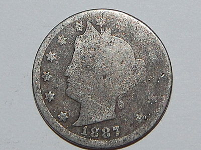 1887 Liberty Nickel (2568)