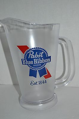 PBR Pabst Blue Ribbon Clear Beer Plastic Pitcher 48 oz Barware Party drink NEW