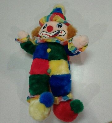 "Vintage 1980's Cuddle Wit Clown Plush 19"" Stuffed Clean toy"