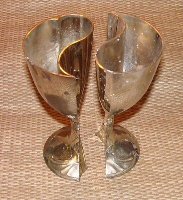 Silver Plate Yin / Yang Wedding Chalice, Very Unique, Secret Society Initiation