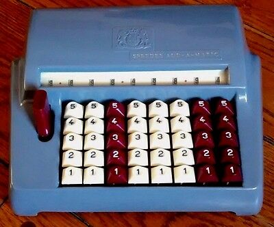 Antique Vintage Adding Machine Chadwick Speedee Add-A-Matic Desk-top SOLD AS IS