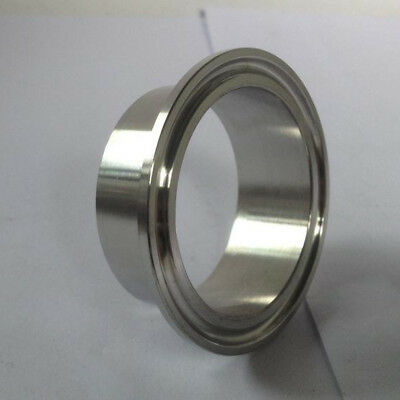 "51MM 1.5"" OD  64 Sanitary Weld on Ferrule FitsTri Clamp Stainless Steel 304 TP"