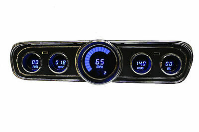 1965-1966 Ford Mustang Digital Dash Panel Gauges by Intellitronix Blue LEDs