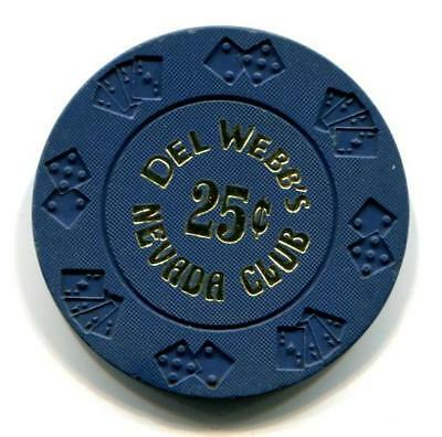 Lasughlin Nv Del Webb's NEVADA CLUB 25¢ Casino Chip diecar CR#N0992