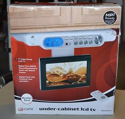 gpx under cabinet lcd tv house designer today