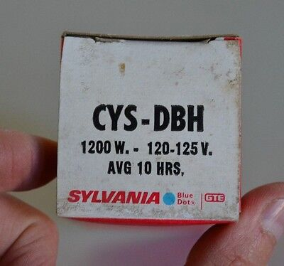 Cys-Dbh 1200W Sylvania Projector Bulb Cys-Dbh  1200W - 120-125V  Avg 10 Hrs, New