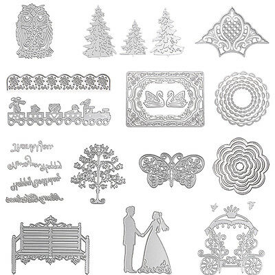 Metal DIY Cutting Dies Stencil Scrapbook Album Paper Card Embossing Crafts Decor
