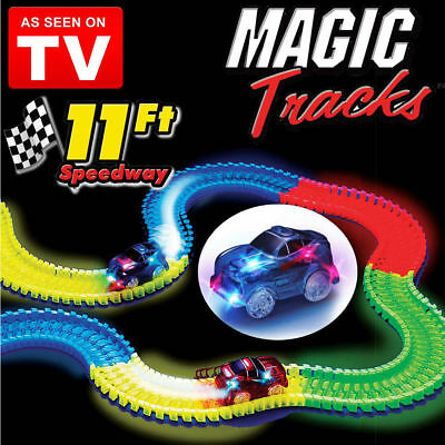 165Pcs Magic Track The Amazing Racetrack That Can Bend Flex Glow As Seen on TV