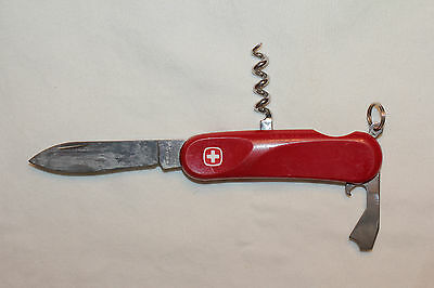 "Wenger Delemont Swiss Army Knife Red 3 1/4"" pocket knife with corkscrew  (W104)"