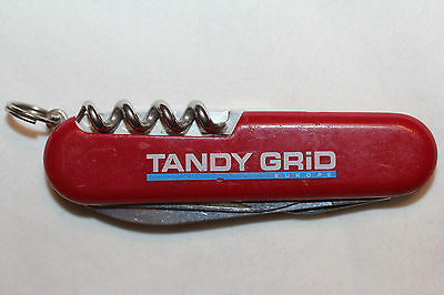 "Wenger Swiss Army Knife Red 3 1/4"" pocket knife advertising TANDY GRID  (W157)"