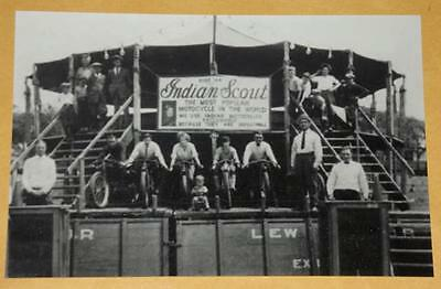 INDIAN SCOUT Motorcycle Wall of Death 1923 Bike Vintage Photo Old RARE Pic 459