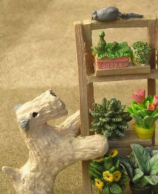 Soft Coated Wheaten Terrier PLANT STAND with MOUSE!