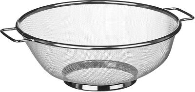 Side Handle Stainless Steel Sieve Fine Mesh Strainer Sifter Cooking Bakeware