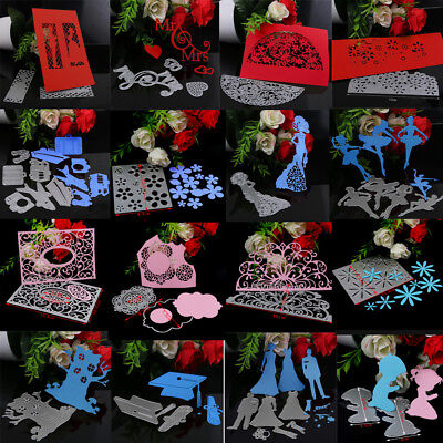 Metal Silver Cutting Dies Stencils Scrapbooking Album Card Embossing Craft AU