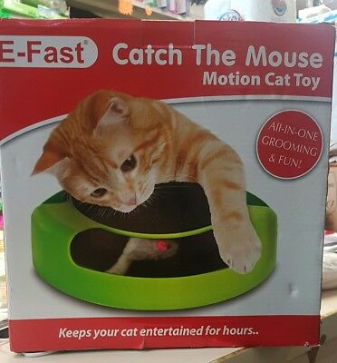 Cat Kitten Catch The Mouse Moving Toy Scratching Claw Care Mat