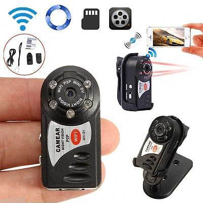Q7 Wireless WIFI Spy Hidden Camera Mini P2P Video Recorder DVR Night Vision MD81