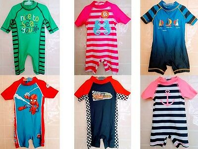 Childrens Boys Girls Uv Sun Safe Swimsuits Swim Wear Characters Up To 6 Years