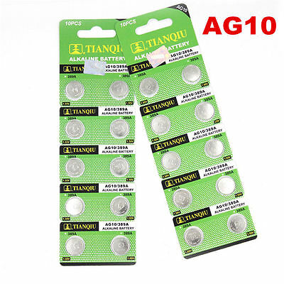 Whoesale 10pcs AG10 LR1130 389 LR54 L1131 189 Button Cell Coin Battery New
