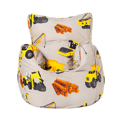Diggers Kid's Toddler Bean Bag Armchair Seat Beanbag Chair Bedroom TV Play
