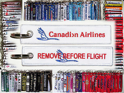 Keyring CANADIAN AIRLINES Remove Before Flight tag keychain Canada