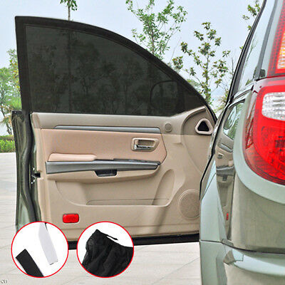 2x Car Sun Shade Cover Kid Rear Side Window Provides Max UV Protector Universal