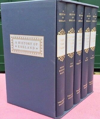 A History of England  5 Volume Set Folio Society in Slipcase Beautiful Condition