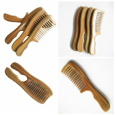 Natural Wooden Sandalwood Handmade Wide Tooth Comb Massage Comb Hair Care