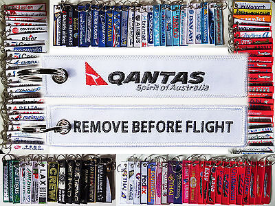 Keyring QANTAS AUSTRALIA Remove Before Flight tag keychain Pride of Australia