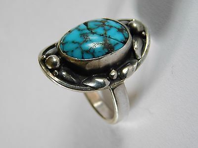 ANTIQUE ARTS & CRAFTS SOLID SILVER RING by JOYCE HIMSWORTH