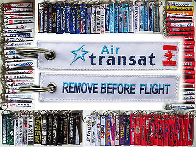 Keyring AIR TRANSAT CANADA Remove Before Flight tag keychain