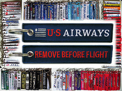 Keyring US AIRWAYS Remove Before Flight tag keychain