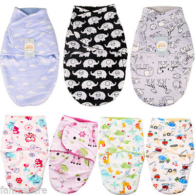 Baby Infant Swaddle Cotton Sleeping Bag Growbag Wrap Cloth Summer Blanket SALE